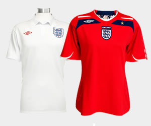 England World Cup Shirts