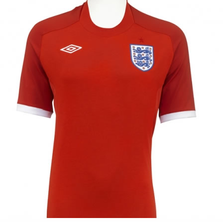 Front view of England World Cup Shirt - Short sleeved version