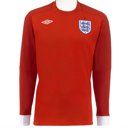 Front view of long sleeved version of England World Cup Shirt
