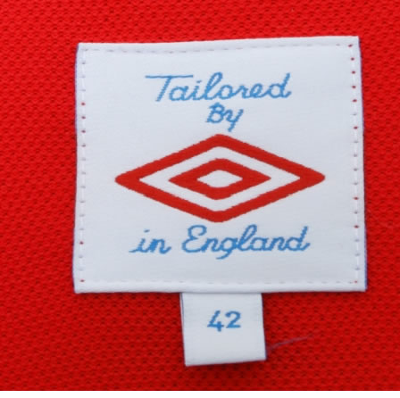 The shirts are tailored by Umbro in England